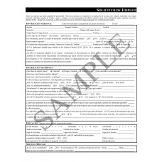 Employment Application (Spanish)